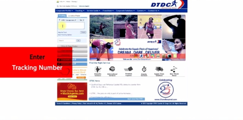 DTDC Courier customer care number 2