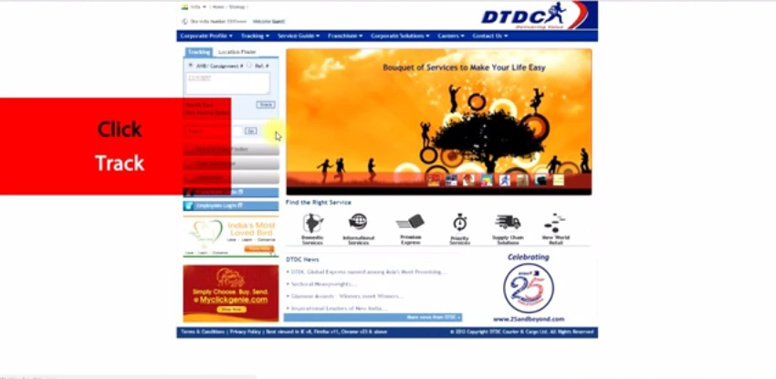 DTDC Courier customer care number 3